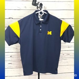 Michigan Wolverines Proplayer2 XL Polo Blue Maize